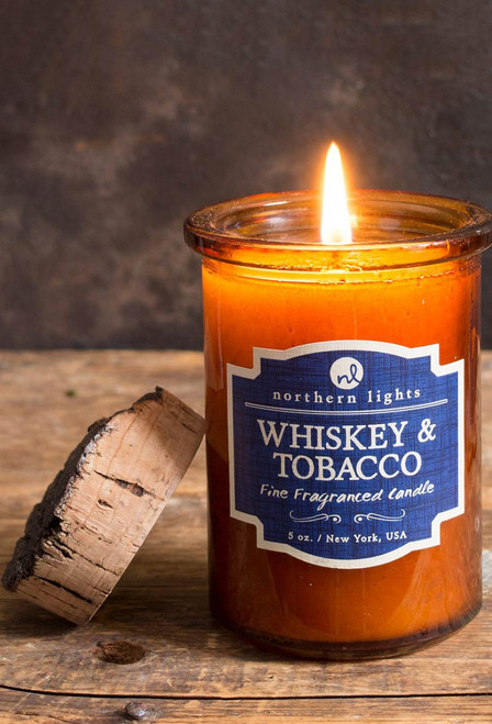 Whiskey and Tobacco Spirit Jar Candle
