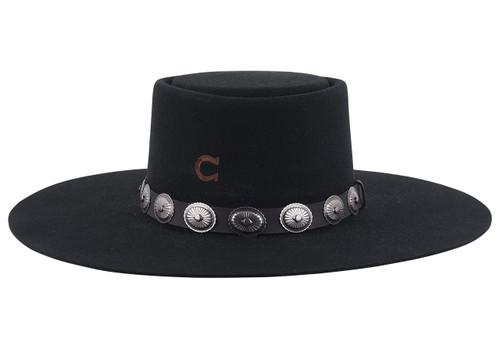 Charlie 1 Horse High Desert Black Hat - Back