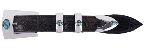 Chacon Turquoise Set 4 Piece Buckle Set