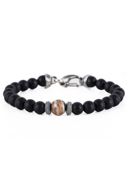 William Henry Clan Woolly Mammoth Tusk Bracelet - Front
