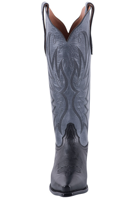 Tony Lama Signature Series Women's Mont Blanc Midnight and Granite Boots - Front