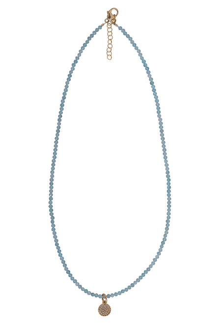 Brown Eyed Girl Charm Necklace With Cut Gemstones - topaz