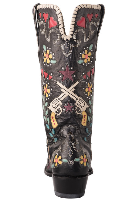 Old Gringo Double D Ranch Cowgirl Bandit Boots - Back