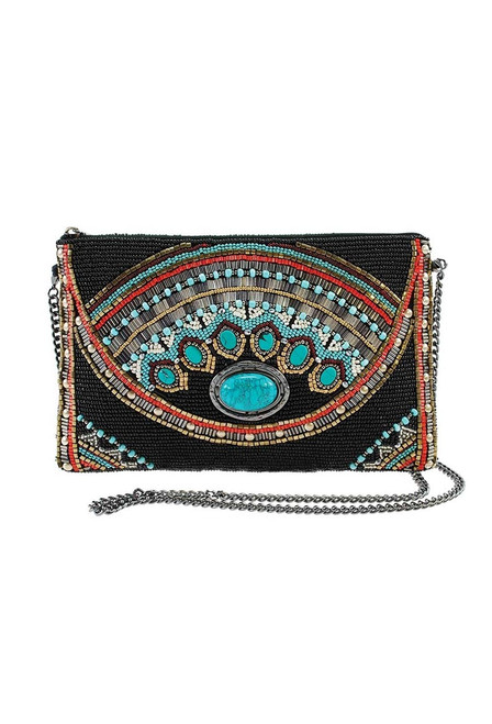 Mary Frances Girl Tribe Beaded Western Mini Crossbody Purse - Front