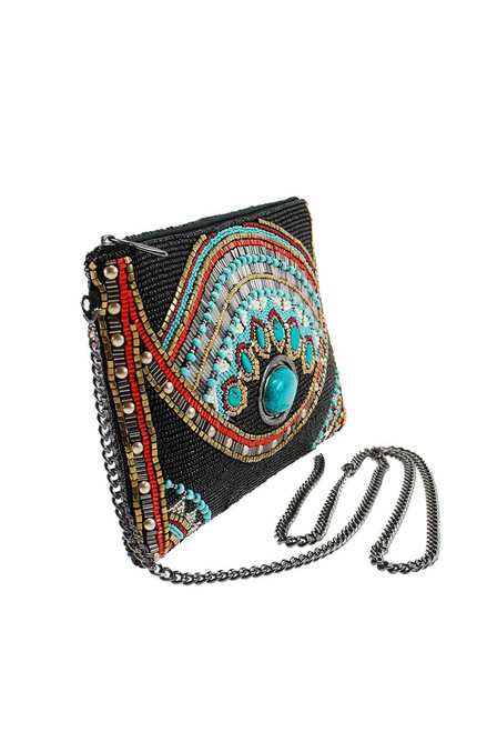 Mary Frances Girl Tribe Beaded Western Mini Crossbody Purse - Side