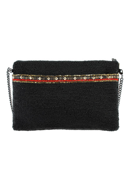 Mary Frances Girl Tribe Beaded Western Mini Crossbody Purse - Back