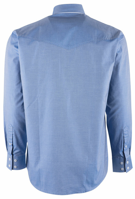 Miller Ranch Blue Twill Button Down Shirt - Back
