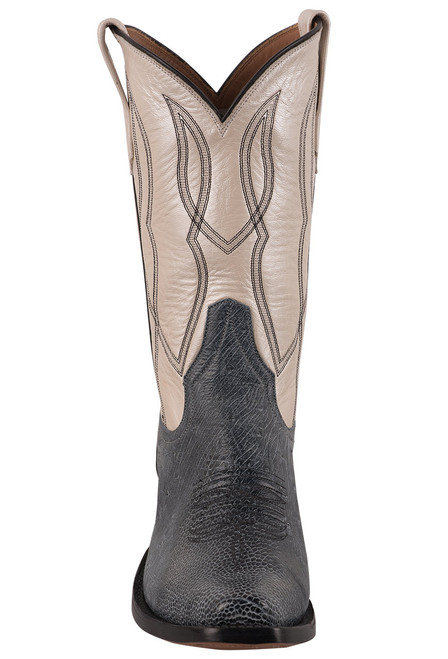 Rios of Mercedes Women's Black Rio Smooth Ostrich Cowboy Boots  - Front