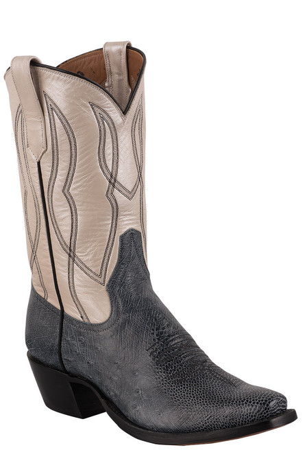 Rios of Mercedes Women's Black Rio Smooth Ostrich Cowboy Boots