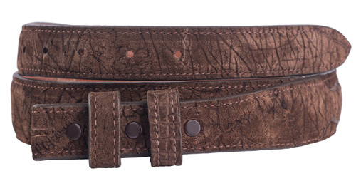 """Handmade Brown Hippo 1 1/4"""" - 1"""" Tapered Leather Belt Strap"""