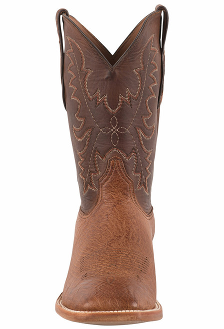 Black Jack Exclusive Burnished Cigar Smooth Ostrich Boots - Front