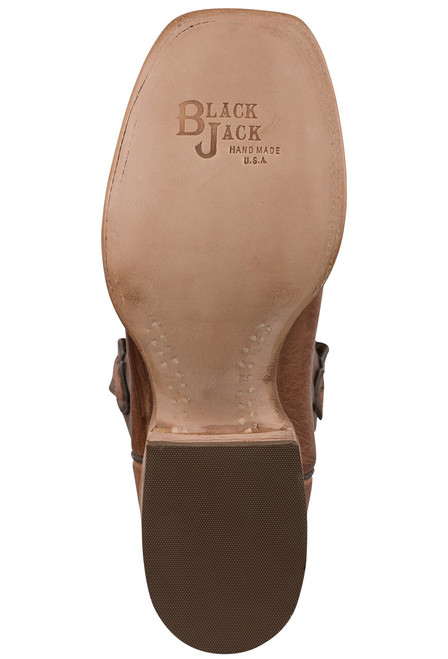 Black Jack Exclusive Burnished Cigar Smooth Ostrich Boots - Sole