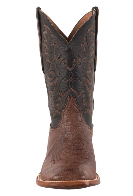 Black Jack Exclusive Kango Bruciato Smooth Ostrich Boots - Front