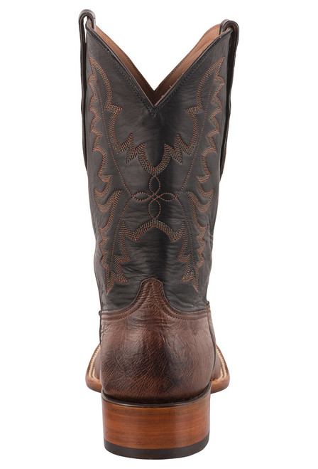 Black Jack Exclusive Kango Bruciato Smooth Ostrich Boots - Back