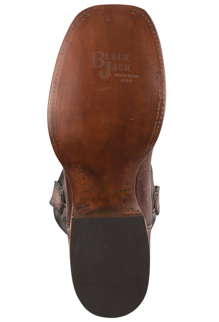 Black Jack Exclusive Kango Bruciato Smooth Ostrich Boots - Sole