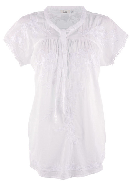 Dylan Women's Mila Embroidered Henley  - Front