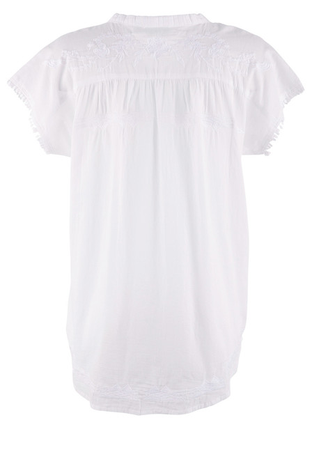 Dylan Women's Mila Embroidered Henley - Back