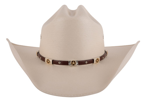Milano 10X Alamo vented Straw Hat - Front