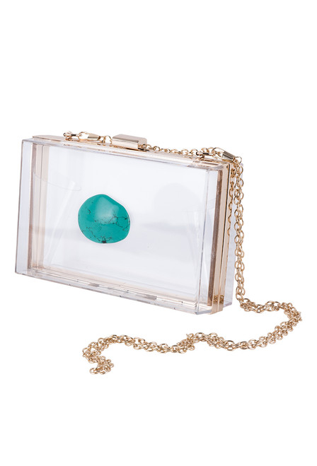 Christina Greene Turquoise Agate Game Day Clutch - Side