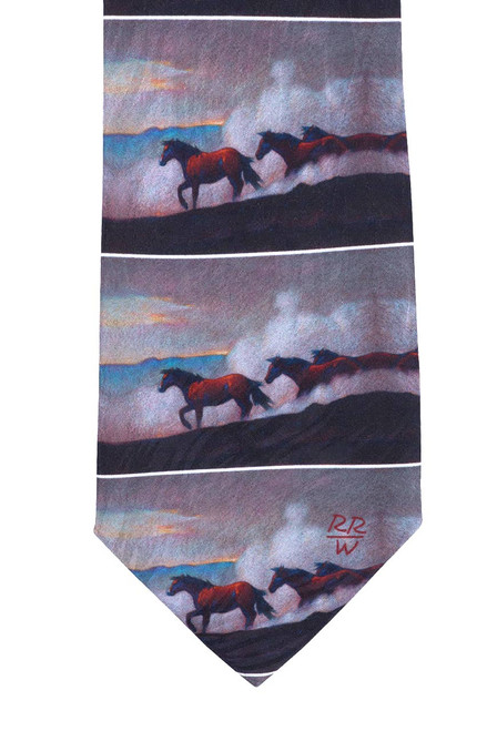 "Rockmount Ltd Edition ""Moving the Remuda"" Silk Tie"