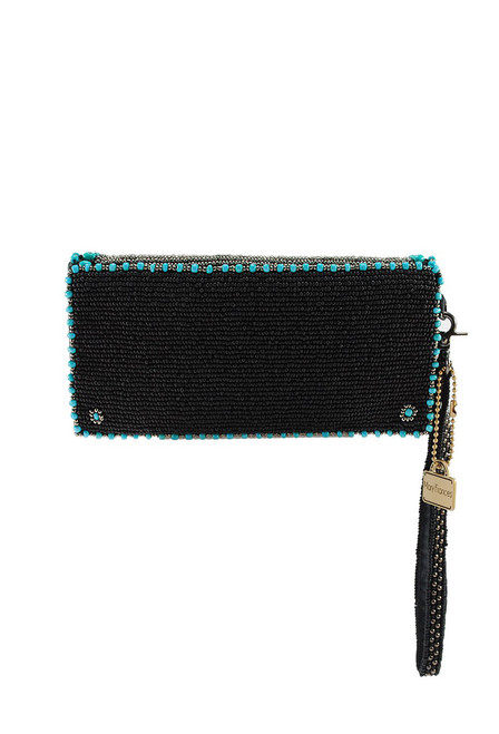 Mary Frances Squash Blossom Beaded Crossbody Wallet - Back