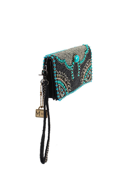 Mary Frances Squash Blossom Beaded Crossbody Wallet - Side