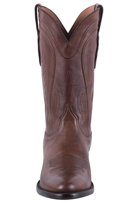 Black Jack Exclusive Burnished Brown Ranch Hand Boots  - Front
