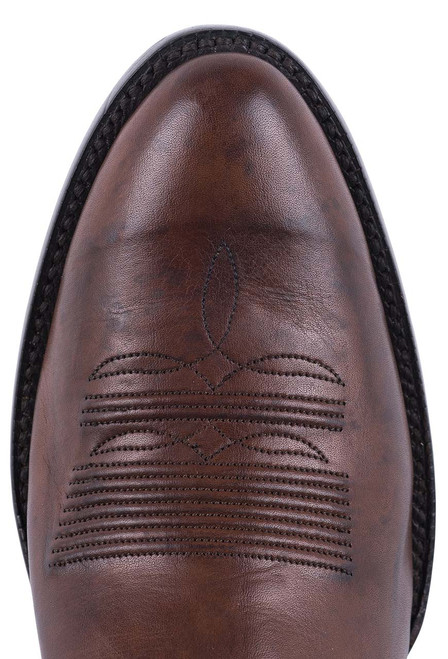 Black Jack Exclusive Burnished Brown Ranch Hand Boots  - Toe