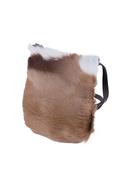 Kulu Springbok Leather Travel Pouch - Side
