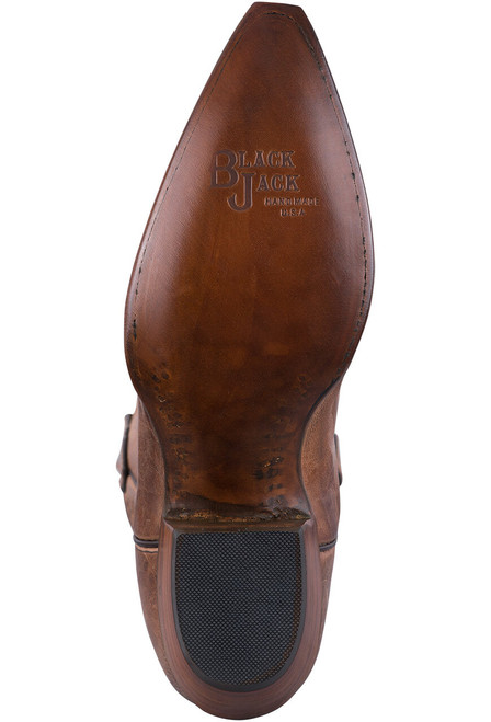 Black Jack Exclusive Tan Mad Dog Goat Boots - Sole