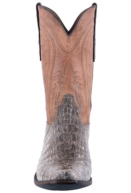 Black Jack Exclusive Natural Caiman Tail Boots - Front