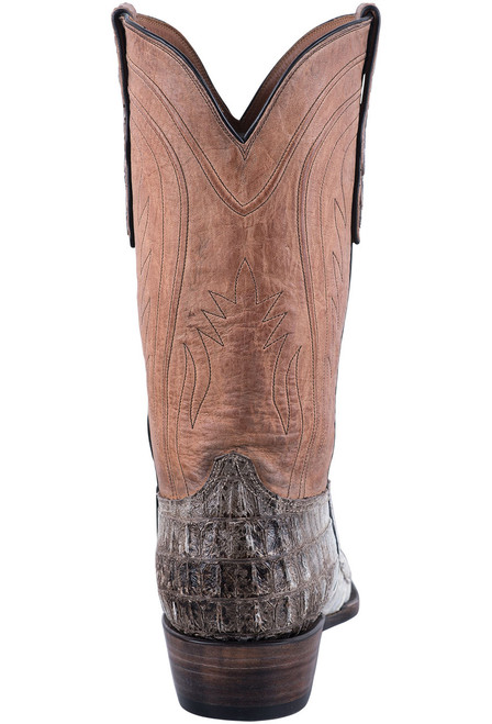 Black Jack Exclusive Natural Caiman Tail Boots - Back