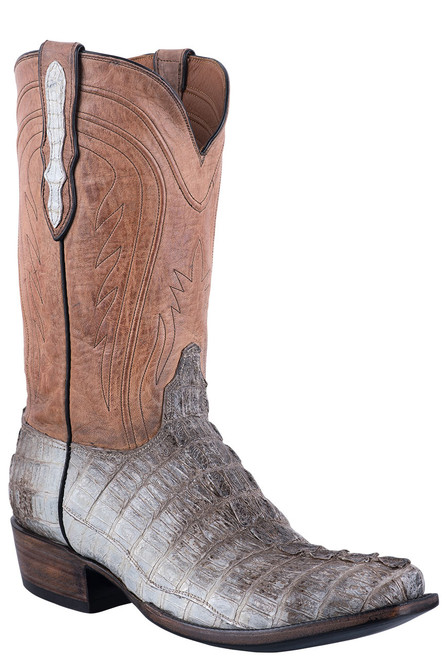 Black Jack Exclusive Natural Caiman Tail Boots - Hero