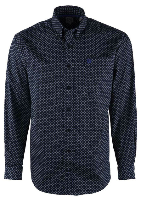 Cinch Black & Purple Dot Sport Shirt - Front