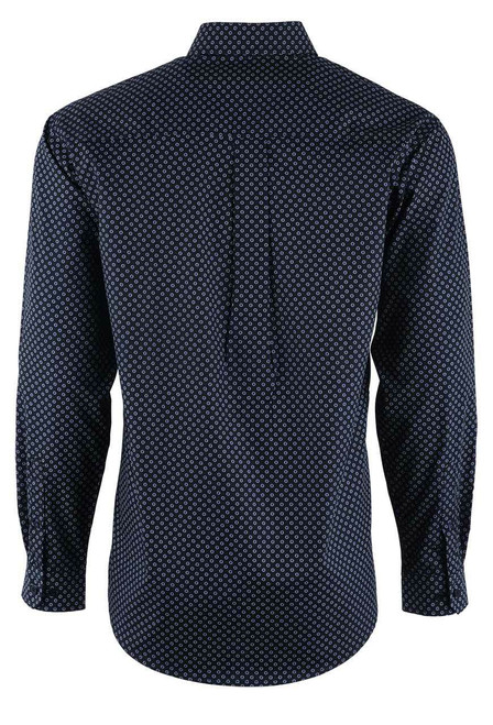 Cinch Black & Purple Dot Sport Shirt - Back