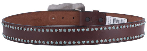 M & F Western Turquoise Trophy Buckle Belt - Back