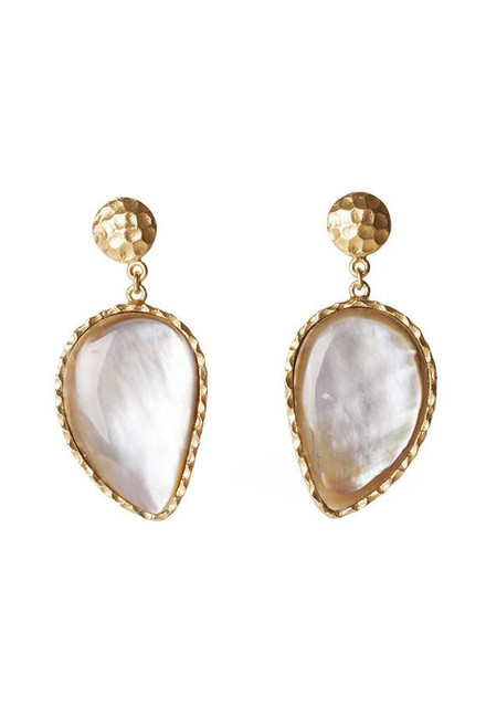 Christina Greene Mother of Pearl Moon Earrings