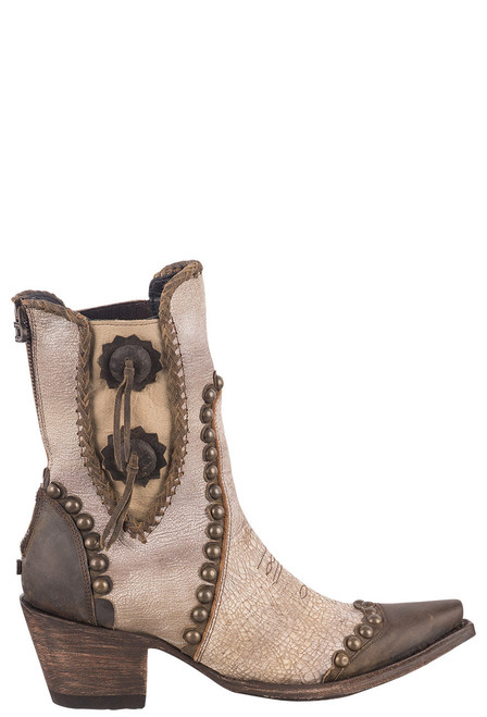 Double D Ranch by Old Gringo White Stockyards Boots - Side