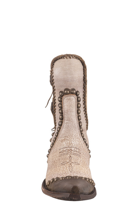 Double D Ranch by Old Gringo White Stockyards Boots - Front