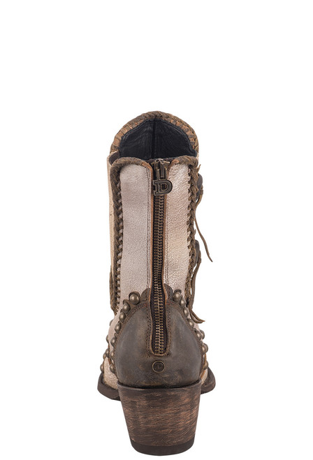 Double D Ranch by Old Gringo White Stockyards Boots - Back