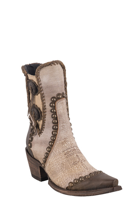 Double D Ranch by Old Gringo White Stockyards Boots - Angle