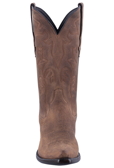 Stallion Tan Mad Dog Goat Cowgirl Boots - Front