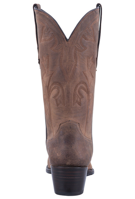 Stallion Tan Mad Dog Goat Cowgirl Boots - Back