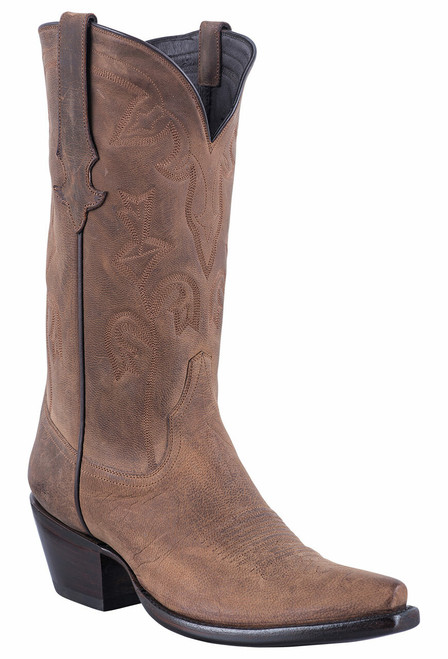 Stallion Tan Mad Dog Goat Cowgirl Boots