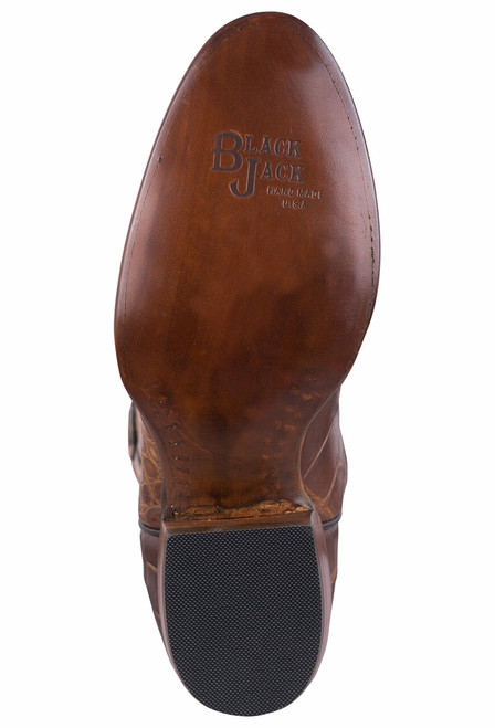 Black Jack Exclusive Pull Up Tan American Alligator Boots