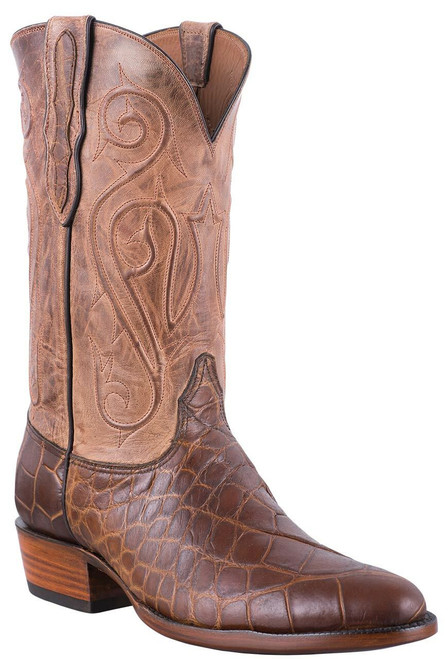 Black Jack Exclusive Pull Up Tan American Alligator Boots - Hero