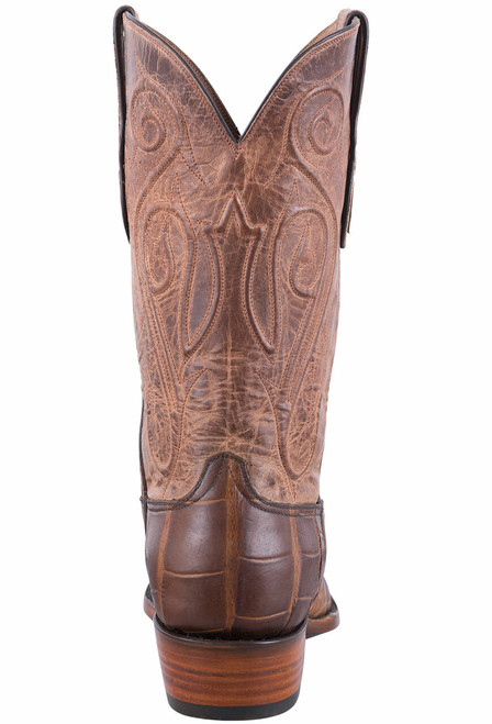 Black Jack Exclusive Pull Up Tan American Alligator Boots - Back