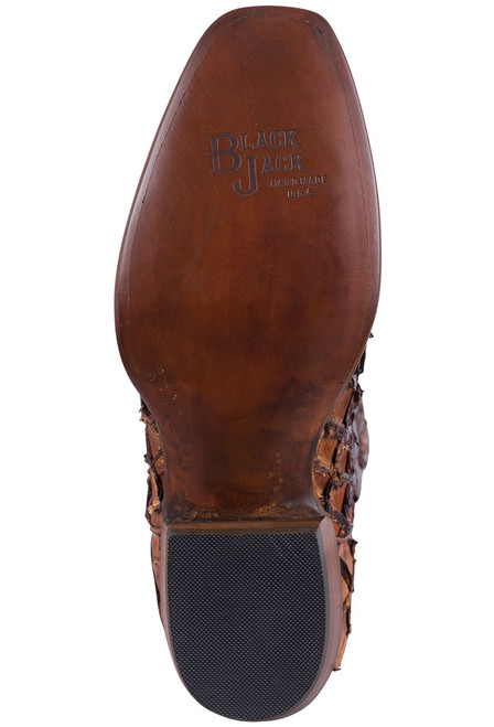 Black Jack Exclusive Ginger Chestnut Pirarucu Boots - Heel