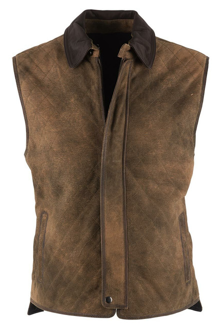 Madison Creek Sand & Charcoal Reversible Whitney Vest - Front