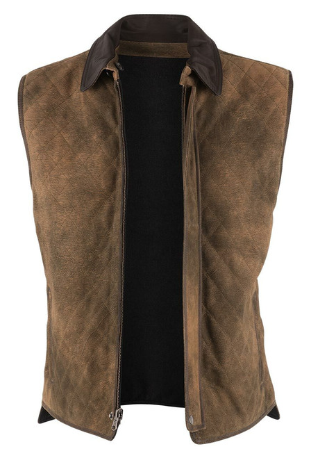 Madison Creek Sand & Charcoal Reversible Whitney Vest - Open